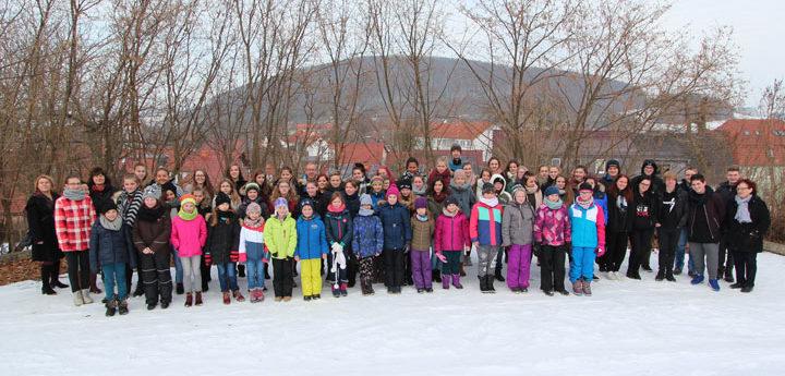 2017 Chorlager Uder: Gruppenbild im Schnee
