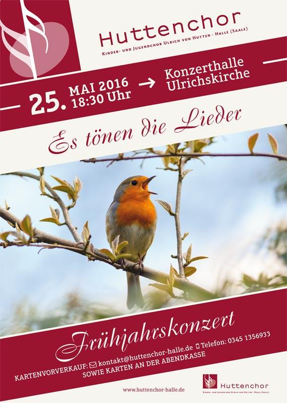 2016: Plakat Frühjahrskonzert