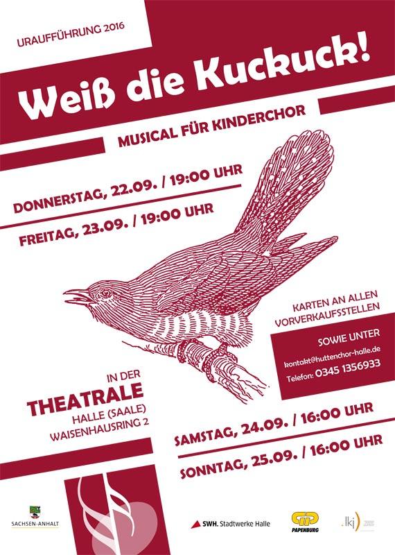 """2016: Plakat Musical """"Weiß die Kuckuck"""""""